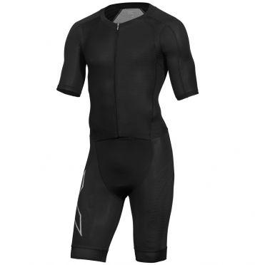 2XU Compression Kurzarm Trisuit Schwarz Herren