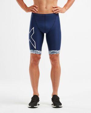 2XU Compression Tri shorts Blau/Weiß Herren