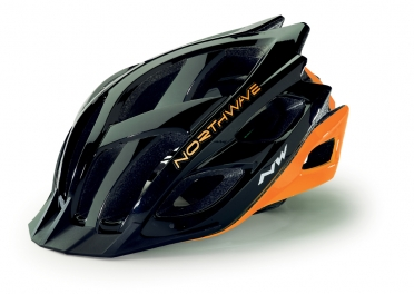 Northwave Storm MTB Helm Schwarz/Orange-Fluo Herren