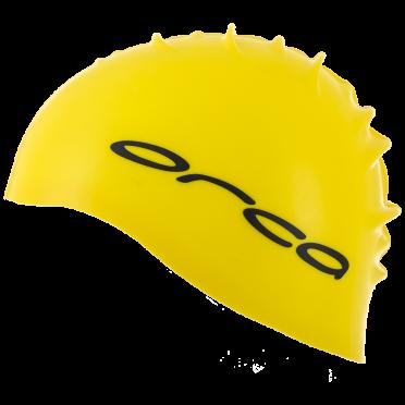 Orca Silicone Badekappe swim cap Gelb