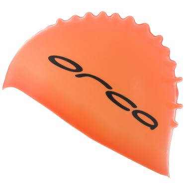 Orca Silicone Badekappe swim cap Orange