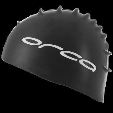 Orca Silicone Badekappe swim cap Schwarz