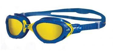 Zoggs Predator flex CV Schwimmbrille Blau/Gelb
