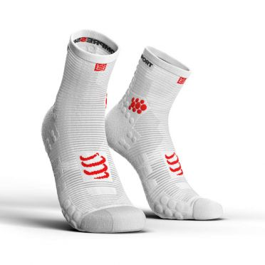 Compressport Pro racing v3.0 hohe Laufsocken Weiß