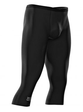 Compressport Under control pirate 3/4 Compression Laufhose Schwarz Unisex