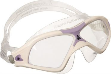 Aqua Sphere Seal XP 2 Lady klare Linse Schwimmbrille Weiß/Lila