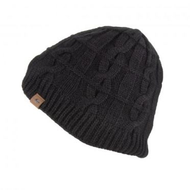 Sealskinz Cold Weather Cable knit beanie Schwarz