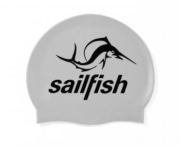 Sailfish Silikon Badekappe Silver
