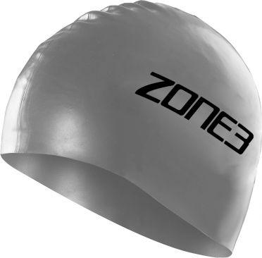 Zone3 Silikon Badekappe Silber