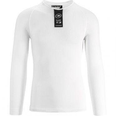 Assos Skinfoil LS Summer Langarm Unterhemd Weiß Unisex