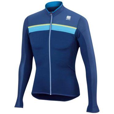Sportful Pista Longsleeve Jersey Blau/Gelb Herren