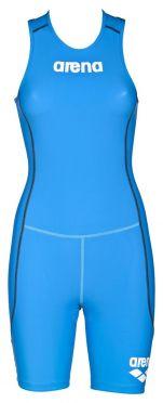Arena ST Rear zip Ärmellos Trisuit Blau Damen