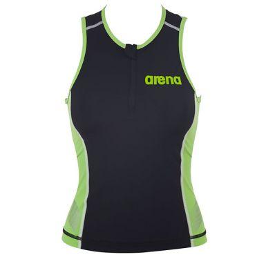 Arena ST Ärmellos Tri Top Schwarz/Grün Damen