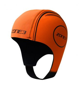 Zone3 Neopreen Swim Cap Orange