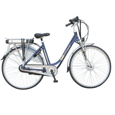 Dutchebike Elektro damenrad touring blau
