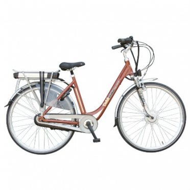 Dutchebike Elektro damenrad touring orange-kupfer