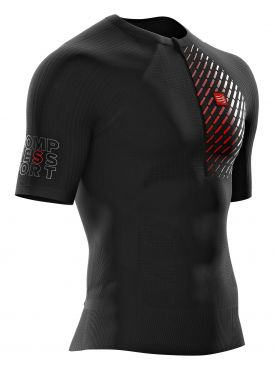 Compressport Trail running postural Kurzarm Compression top Schwarz Herren