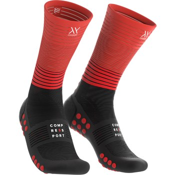 Compressport Mid Compression Socken Oxygen Schwarz/Rot