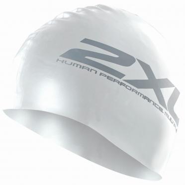 2XU Silikon Swim Cap Weiß