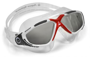 Aqua Sphere Vista dunkle Linse Schwimmbrille Silber/Rot