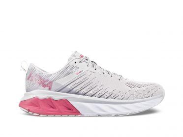 Hoka One One Arahi 3 Laufschuhe Weiß/Rosa Damen