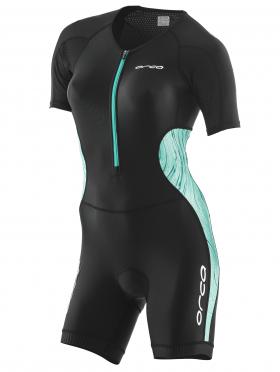 Orca Core race Kurzarm trisuit Schwarz/Grün Damen