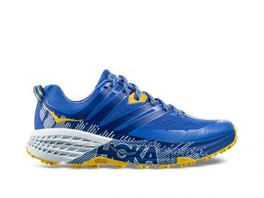 Hoka One One Speedgoat 3 Trail Laufschuhe Blau/Gelb Damen
