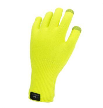 SealSkinz Ultra grip knitted Radhandschuhe Neon Gelb