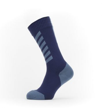 Sealskinz Cold weather mid Radsocken mit Hydrostop Blau