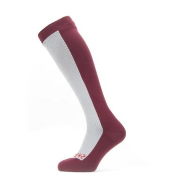 Sealskinz Cold weather knee Radsocken mit Hydrostop Grau/Rot