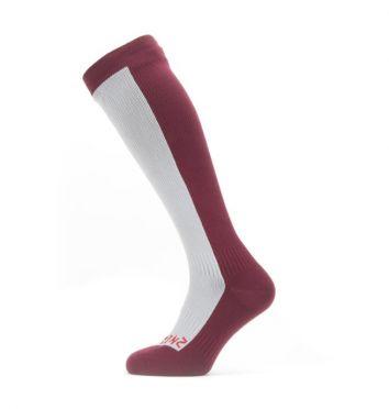 Sealskinz Cold weather knee Radsocken mit Hydrostop Grau/Rot