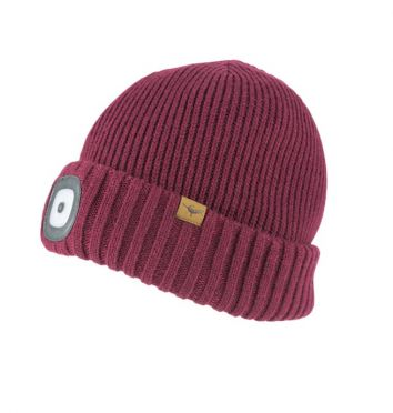 Sealskinz cold weather LED beanie Rot
