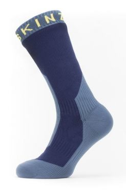 Sealskinz Extreme cold weather mid Radsocken mit Hydrostop Blau