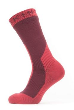 Sealskinz Extreme cold weather mid Radsocken mit Hydrostop Rot