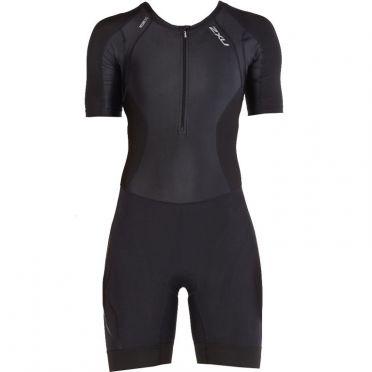 2XU Compression Kurzarm Trisuit Schwarz Damen