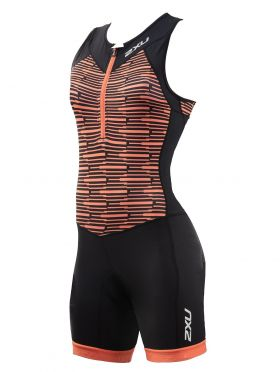 2XU Active Ärmellos Trisuit Schwarz/Orange Damen