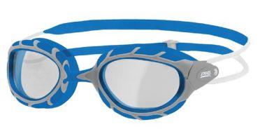 Zoggs Predator klare Linse Schwimmbrille Blau/Grau