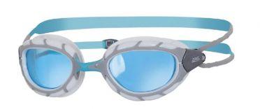Zoggs Predator blaue Linse Schwimmbrille Grau/Weiß
