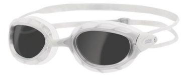 Zoggs Predator dunkle Linse Schwimmbrille Weiß