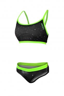 Zone3 Cosmic Two Piece Bikini Schwarz/Gelb Damen