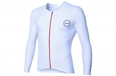 Zone3 Lava Speed Langarm Tri top Weiß Herren