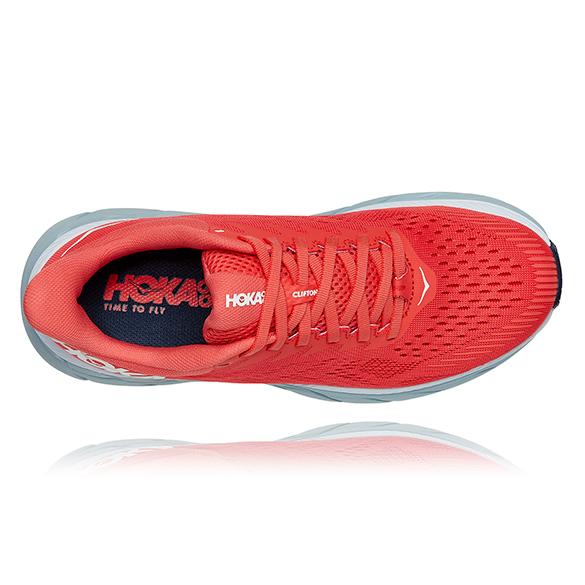 Neu Hoka One Clifton 7 1110509 Hcwh Rot Laufschuhe für Damen
