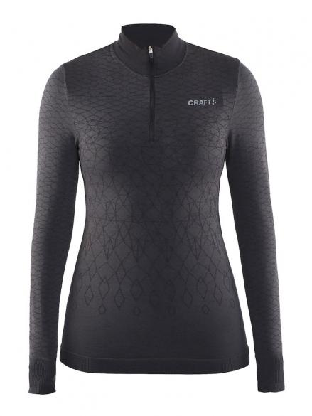 Craft Warm wool comfort zip lange Ärmel Unterwäsche Schwarz Damen  1904483-9999