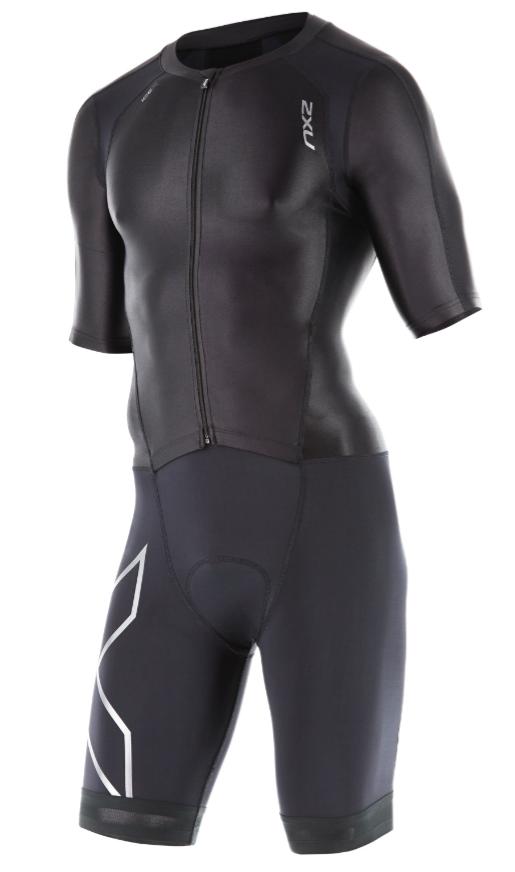 2XU Compression Full Zip sleeved trisuit Schwarz Herren   MT4442dBLK/BLK