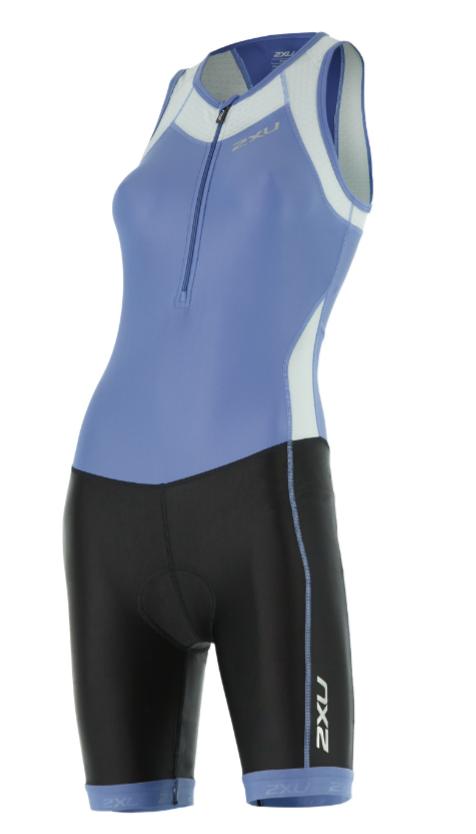 2XU X-vent Front Zip Trisuit Blau/Schwarz Damen  WT4365dCBU/BLK