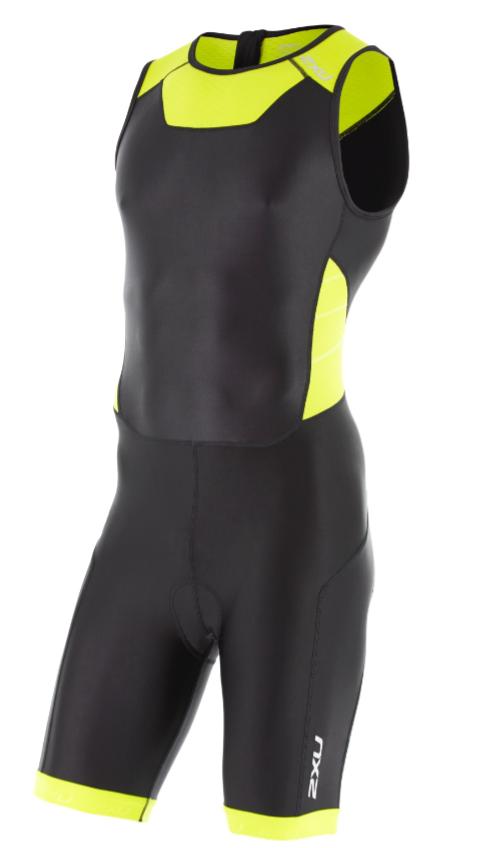 2XU X-vent Rear Zip Trisuit Schwarz/Gelb Herren  MT4356dBLK/LPU
