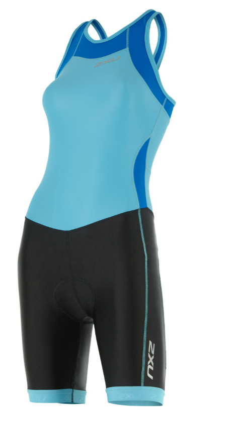 2XU X-vent Y-back Trisuit Schwarz/Light Blau Damen  WT4366dBLA/BLK