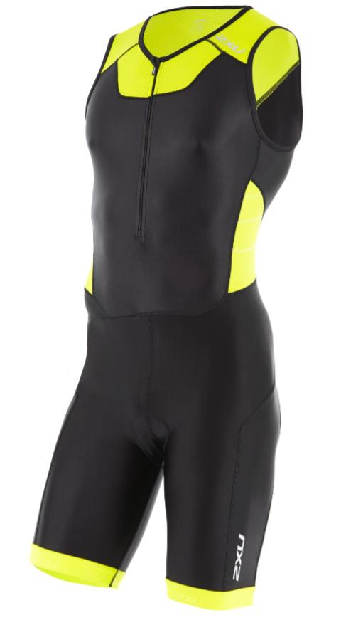 2XU X-vent Front Zip Trisuit Schwarz/Gelb Herren  MT4354dBLK/LPU