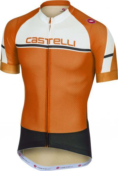 Castelli Distanza jersey Kurzarmtrikot Orange Herren  18012-034