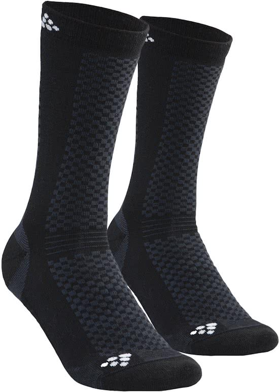 Craft Warm Mid Socken Schwarz 2-pack  1905544-999900
